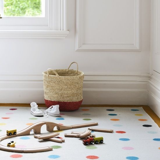 Designed With Stylish Kids Rooms In Mind This Polka Dot Flat Weave Rug Has A