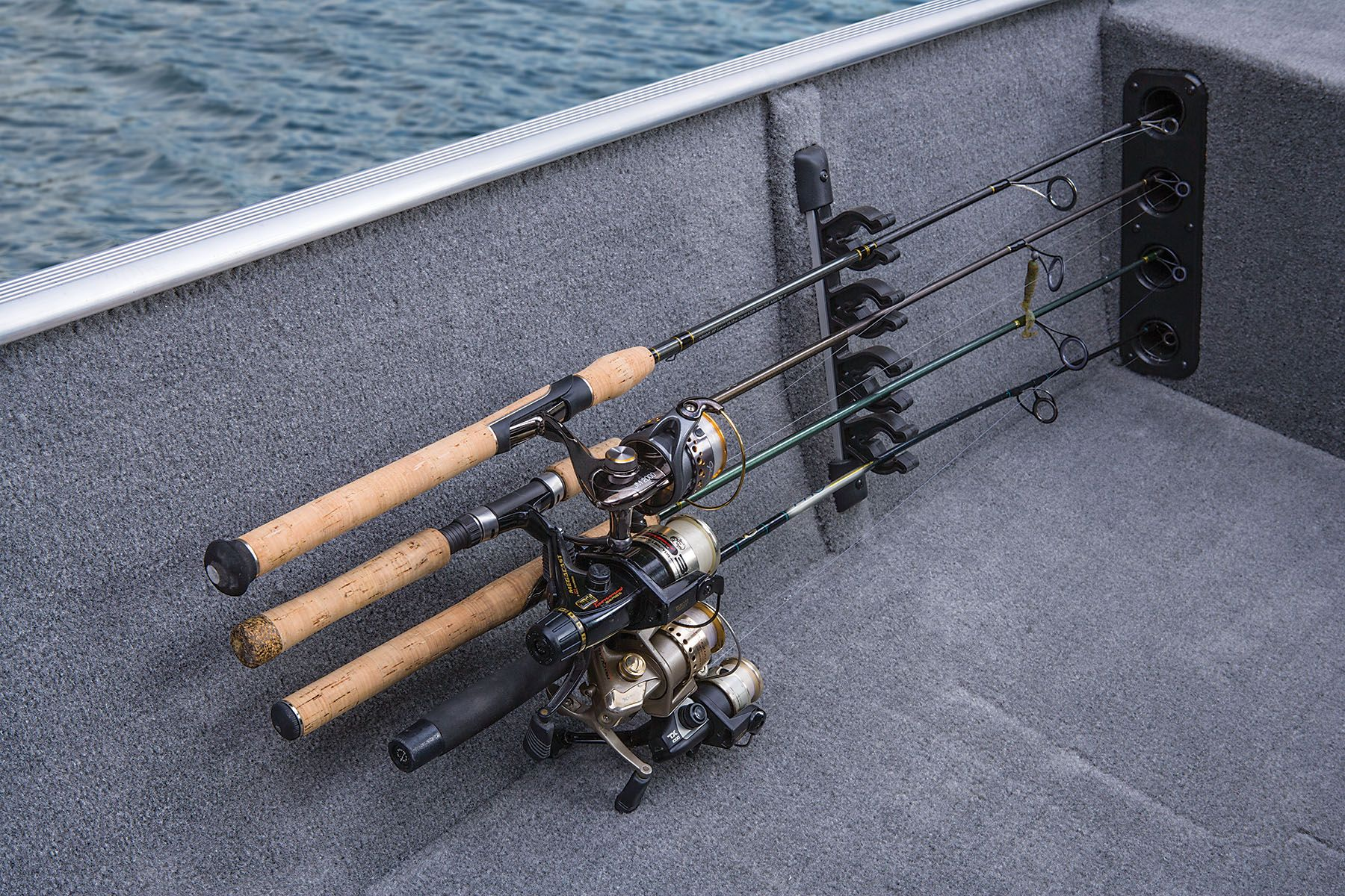 Port Side Rod Holders W Organizer For 4 Rods To 7 2 13 M