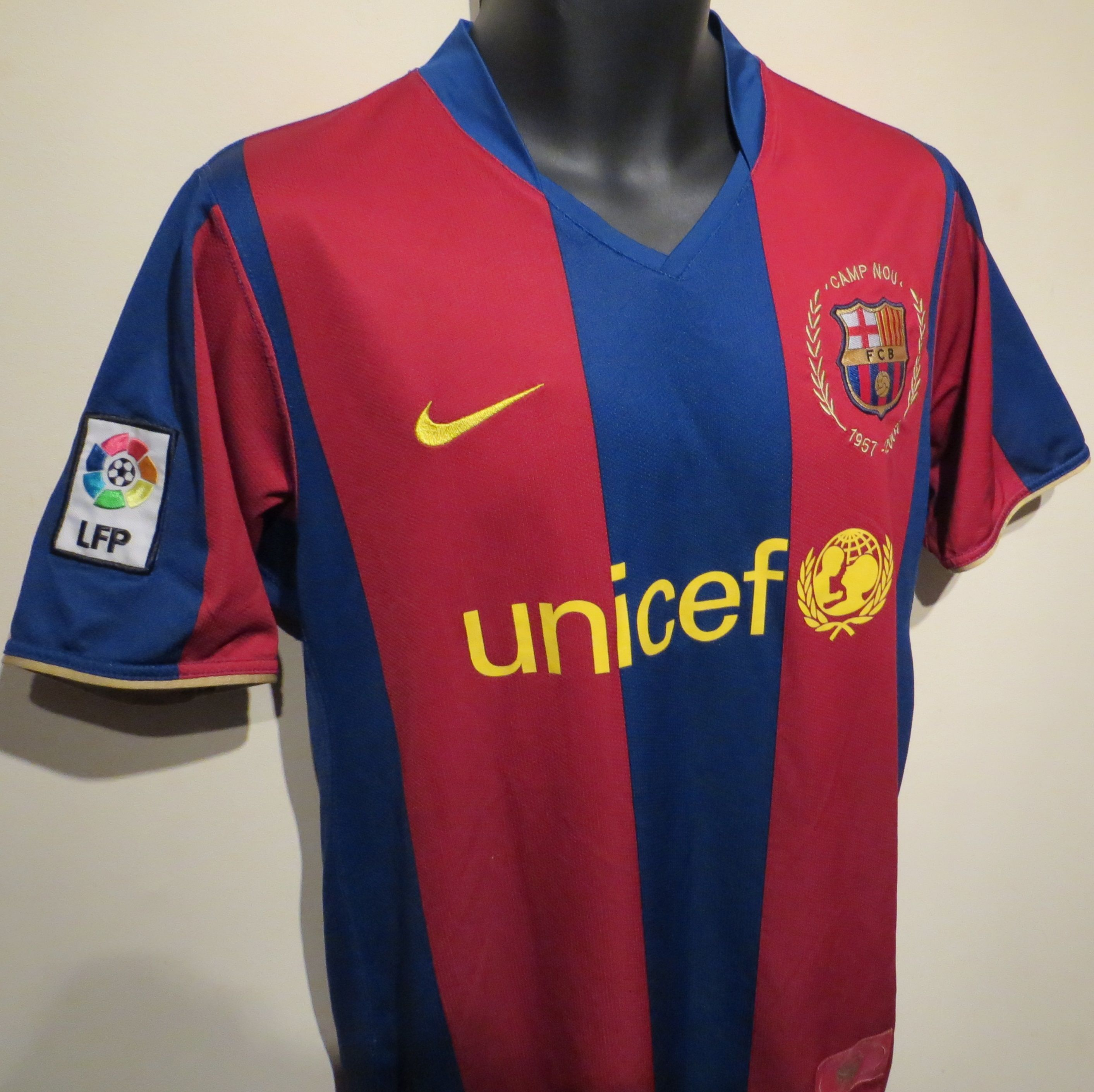 3c5fdaff7 FC Barcelona  50 Years NOU CAMP  home shirt by Nike.  Barca