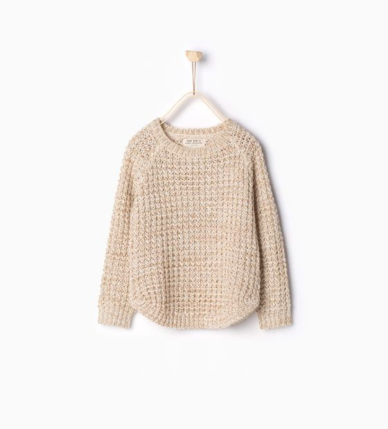 276bb7e2e Image 1 of Shimmer knit sweater from Zara