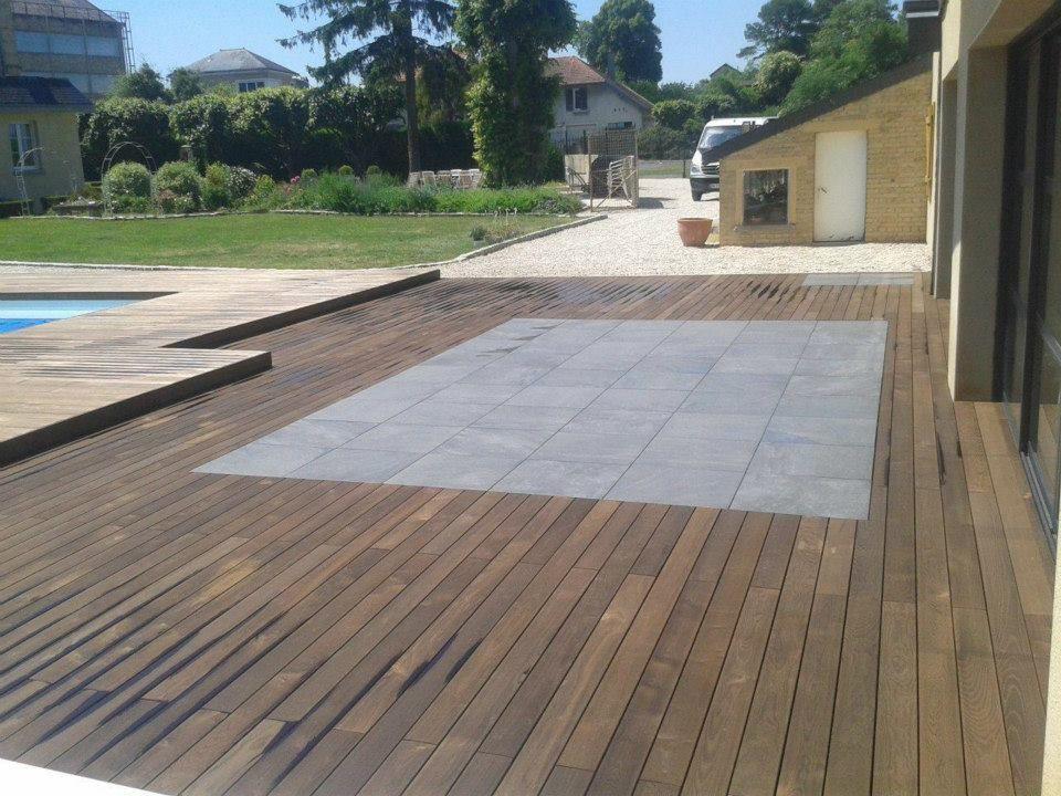 Holzterrasse mit Stein Keramik Platten | 1 in 2019 | Terrasse holz ...