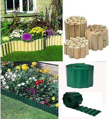 Green Plastic Garden Grass Lawn Edge Edging Border Fence Wall