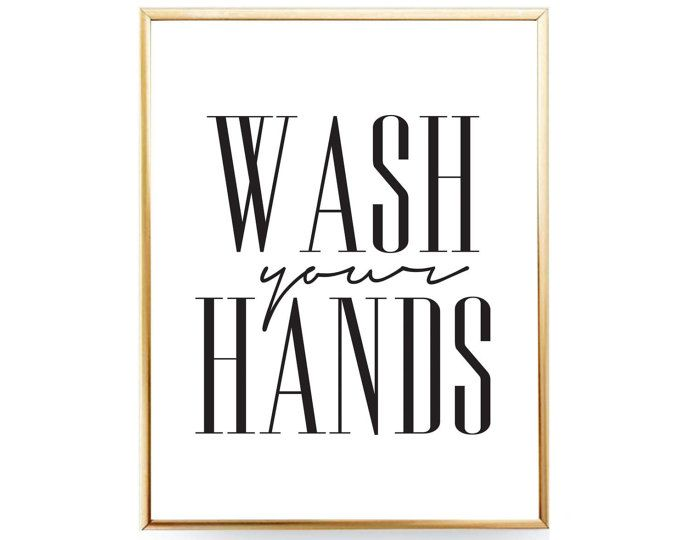 photo about Wash Hands Sign Printable named Clean Your Arms Indication Rest room Printable Wall Artwork, Clean Arms