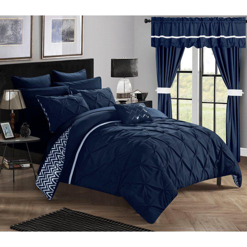 Chic Home 20 Piece Room in a Bag Potterville Reversible Bedroom Set Navy - CS0584-HE