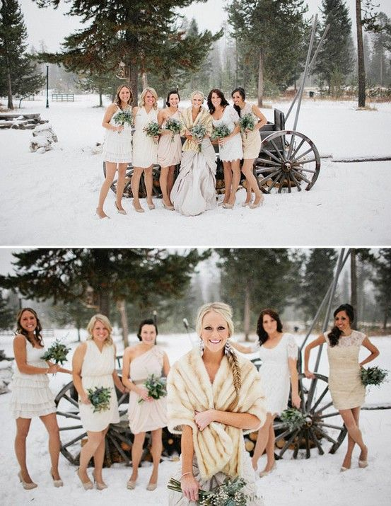 Snowy winter wedding - love all these pics!