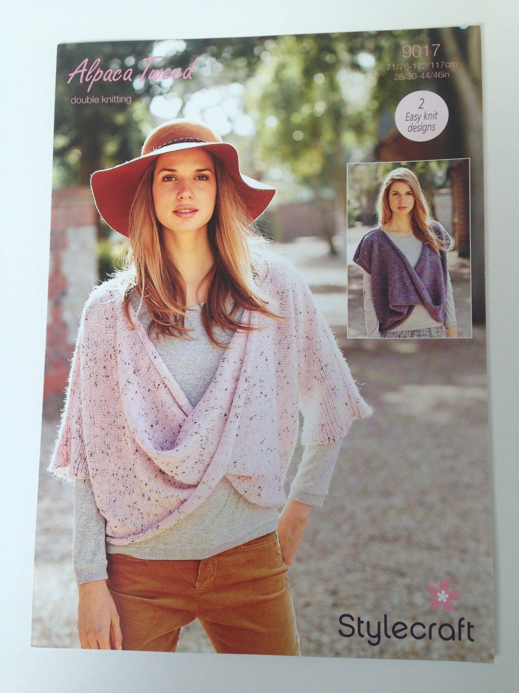 7360f966b StyleCraft Knitting Pattern Alpaca Tweed Double Knitting 9017 - 2 Easy Knit  Designs by AmandaHLCreations on Etsy