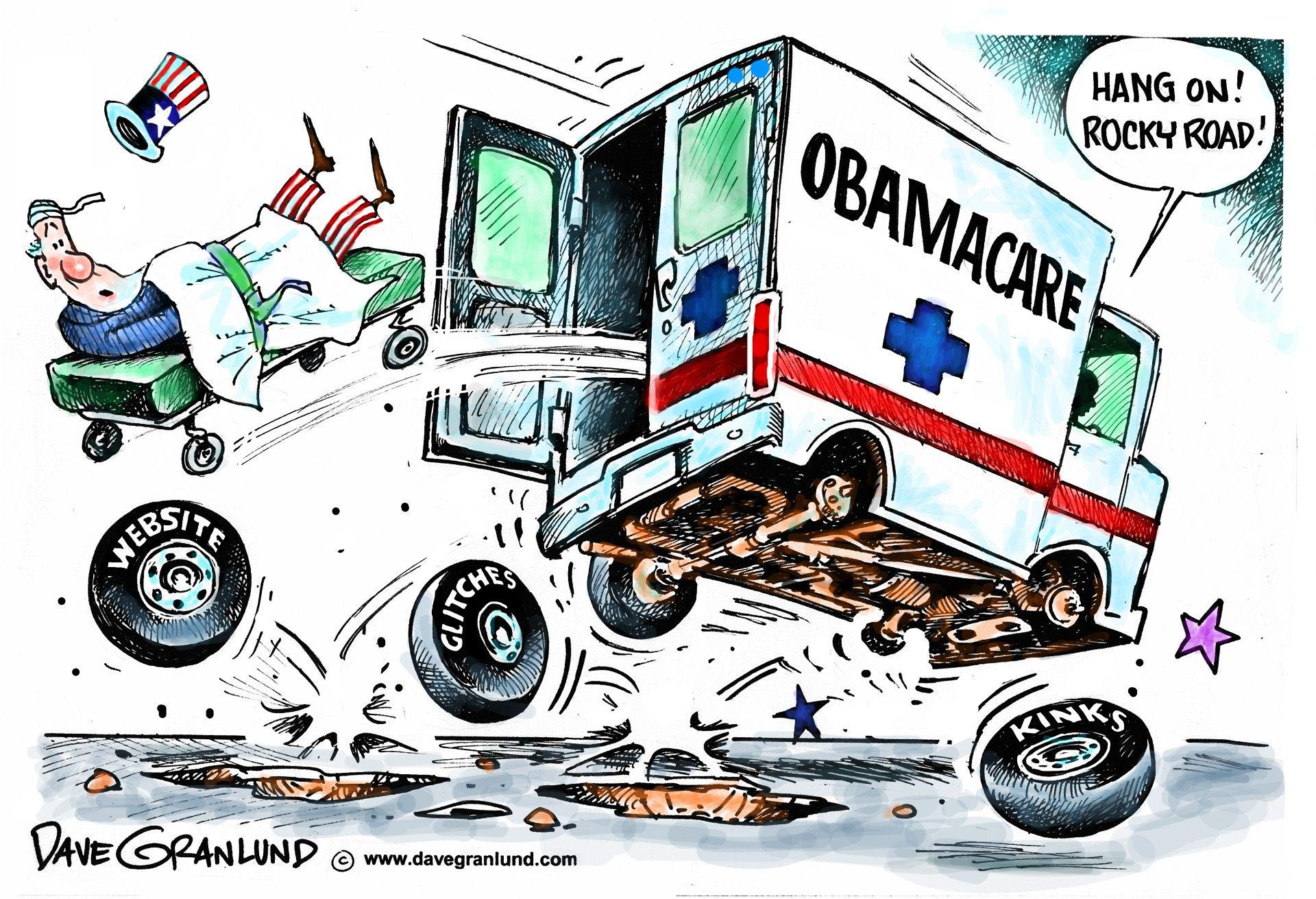 Dave Granlund on Obamacare's rocky start.