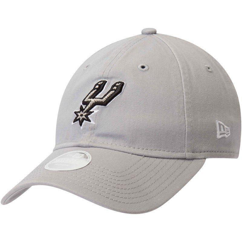 online store f4549 33b11 San Antonio Spurs New Era Women s Team Core Classic 9TWENTY Adjustable Hat  – Gray
