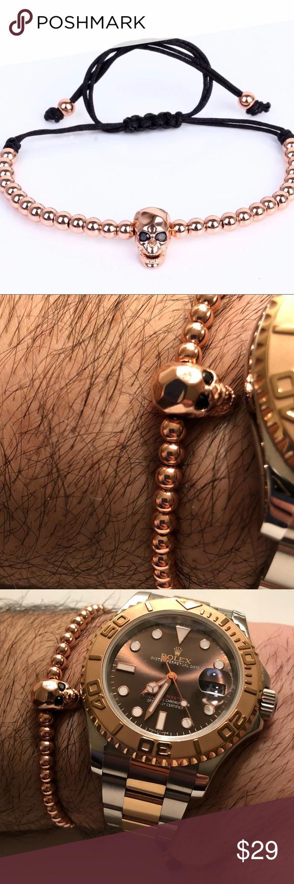 Anil arjandas men bracelets k gold skull head name anil arjandas