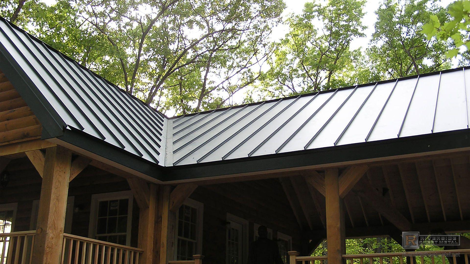 Standing Seam Charcoal Gray Steel Metal Roof