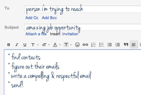 How to email someone you don't know about a job   Career