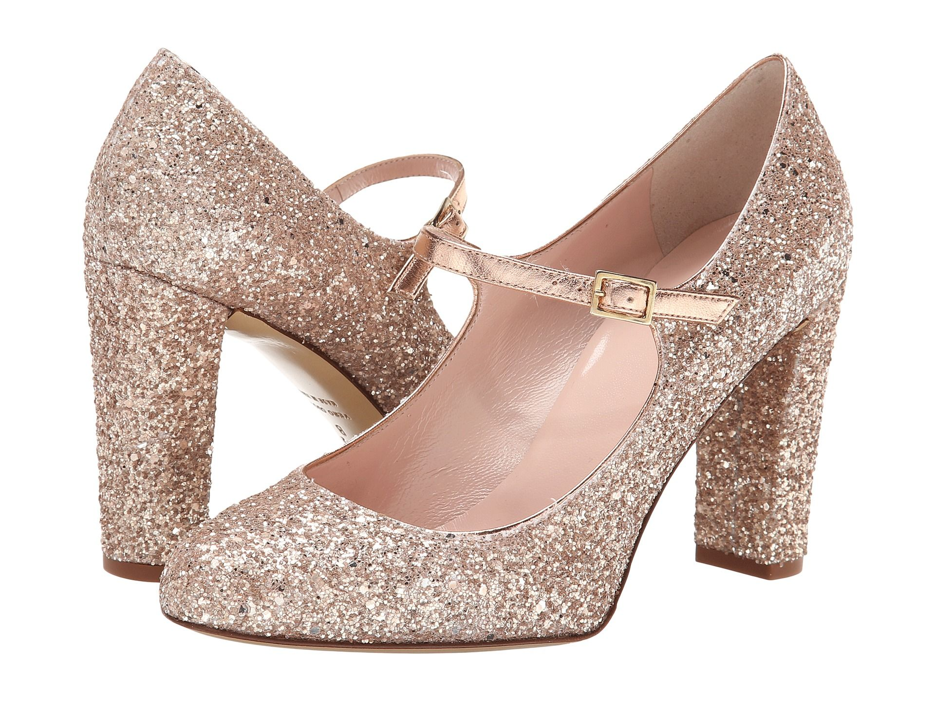 f6b33ea989d Kate Spade New York Angelique Rose Gold Glitter Rose Gold Glitter Heel -  Zappos Couture  350.00