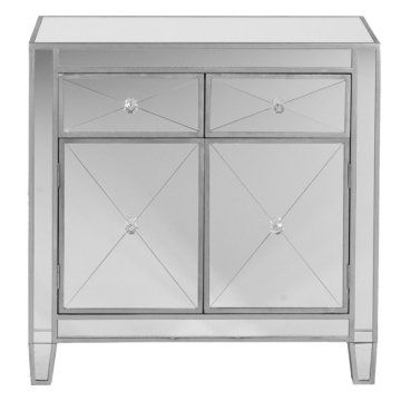 Mirage Mirrored Cabinet - Dining Accent Furniture at Hayneedle