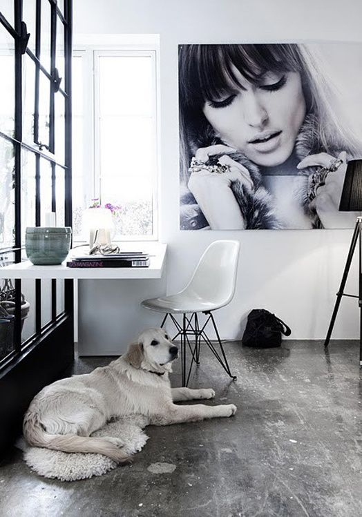home office for a designer/ artist/ photographer