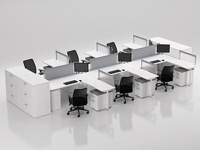 Nice ZDesk Workstations | Z2 Bench | Compel Office Furniture