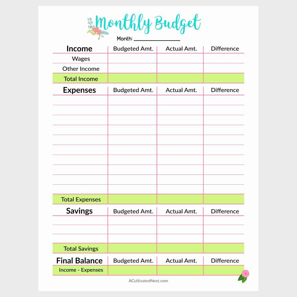 Free Budget Planner Template Best Of Printable Monthly Bud