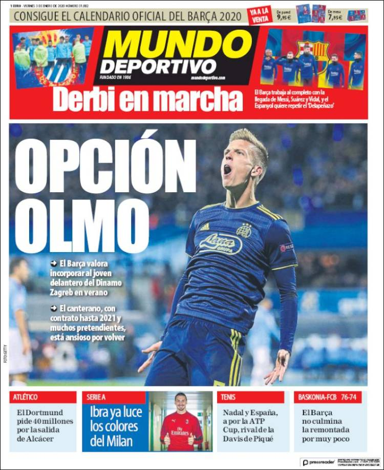 20200103 Periódico El Mundo Deportivo (España