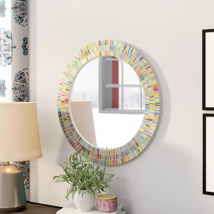 Ebern Designs Coleridge Round Rainbow Bathroom Vanity Wall Mirror Reviews Wayfair Vanity Wall Mirror Mirror Wall Contemporary Bathroom Mirrors