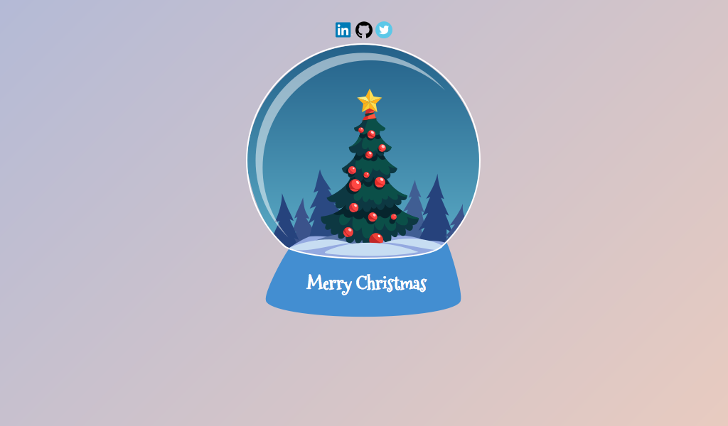 Snow Ball With Snow Animation Merry Christmas Codepen This Year Has Been Amazing Thanks To All Of You Merry Merry Christmas Christmas
