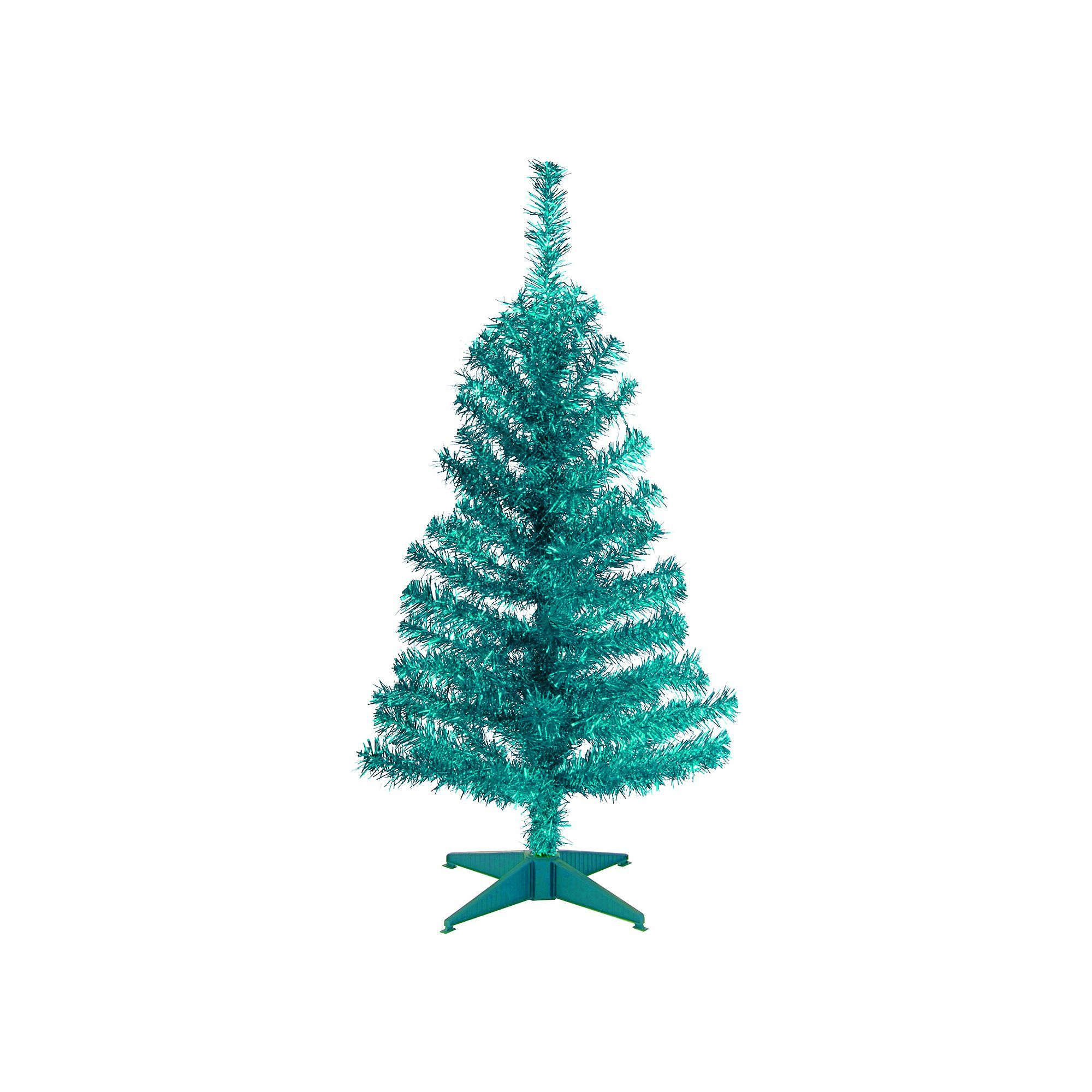 National Tree Company 3-ft. Tinsel Artificial Christmas Tree Floor ...