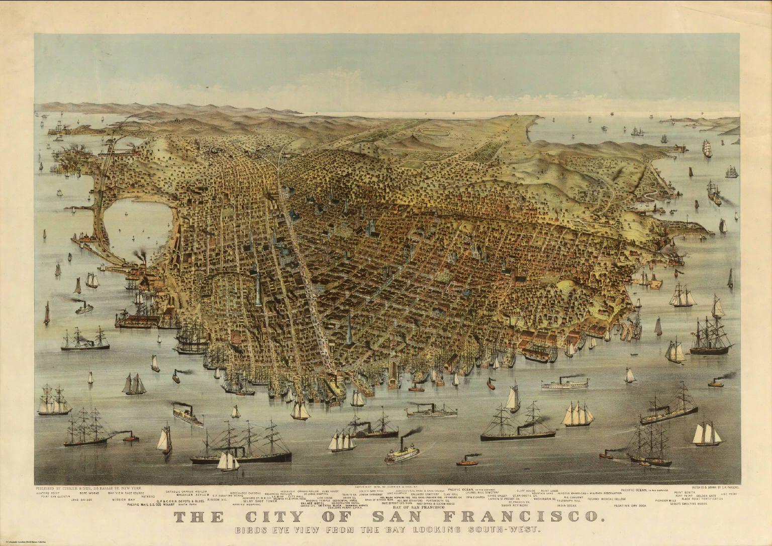 The city of San Francisco Birds eye