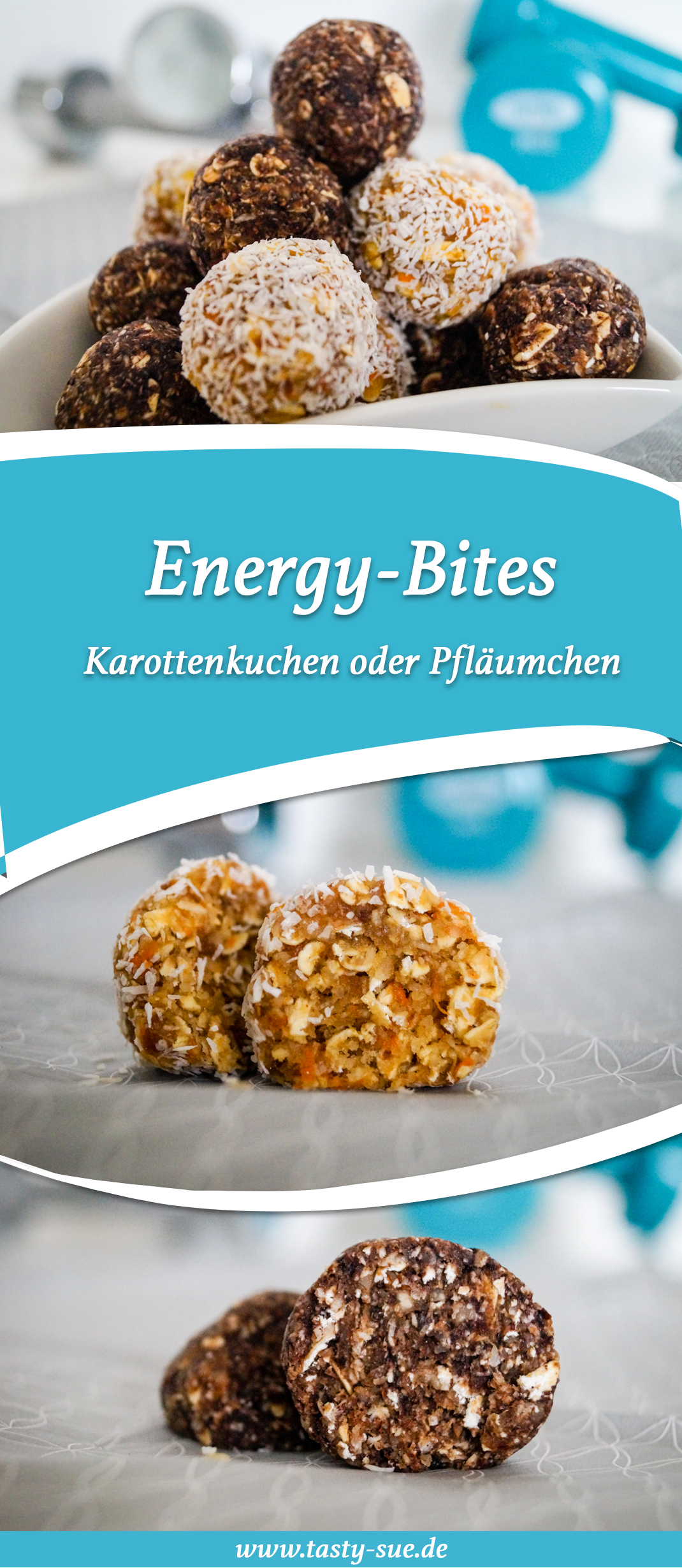 energy bites schnelle power f r zwischendurch tasty sue rezepte pinterest rezepte. Black Bedroom Furniture Sets. Home Design Ideas