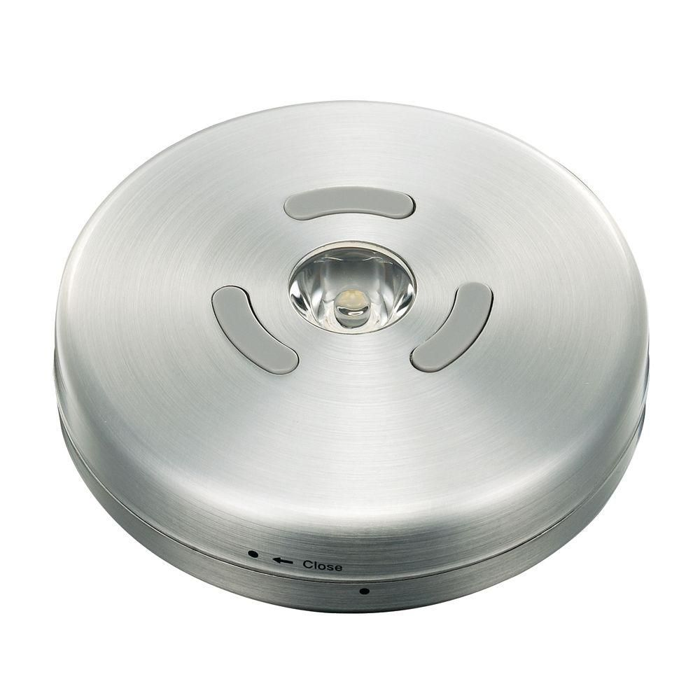 Led Brushed Nickel Puck Light 1001217676 The Home Depot