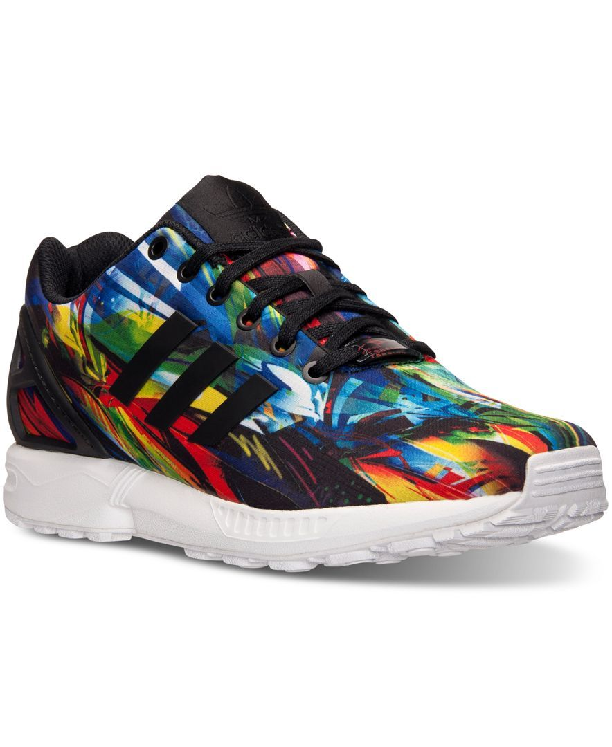 16ef6b93c adidas Men s Zx Flux Print Running Sneakers from Finish Line ...