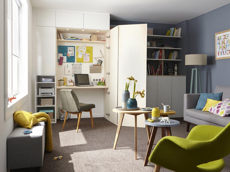 Un bureau dans le placard | Interior Design | Pinterest | Snug ... - Bureau Placard