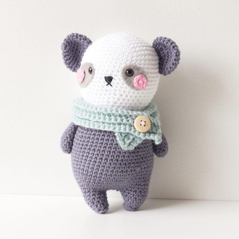 crochet pattern panda   Panda   Pinterest   Croché, Amigurumi y Patrones