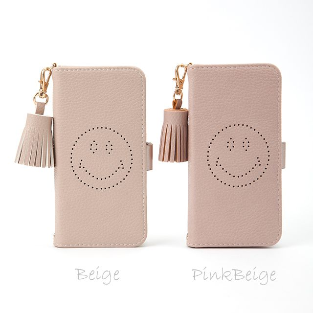 5e5fb0f6ad パンチング スマイル(パンチングニコちゃん) 手帳型スマホケース iphoneケース