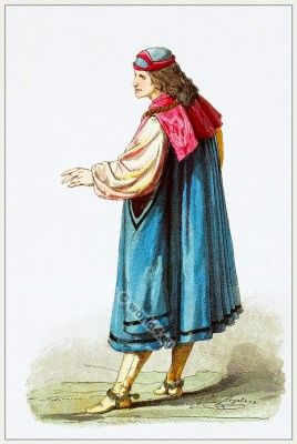 Costume Burgundian nobleman15th century.
