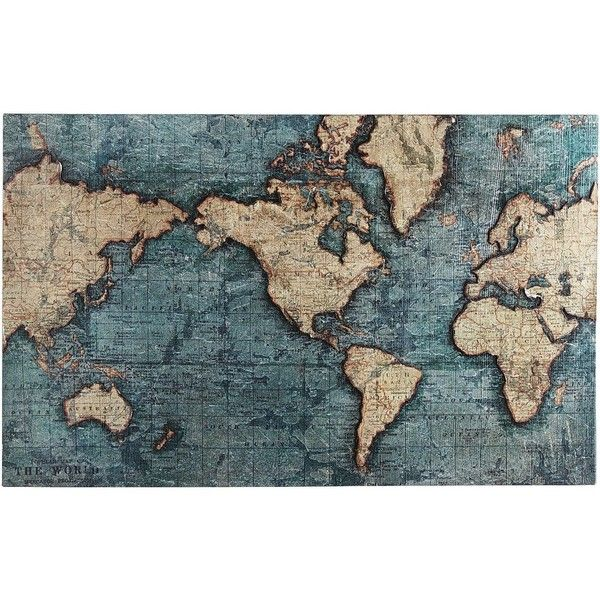 Pier 1 imports world map art teal 249 found on polyvore pier 1 imports world map art teal 249 found on polyvore gumiabroncs