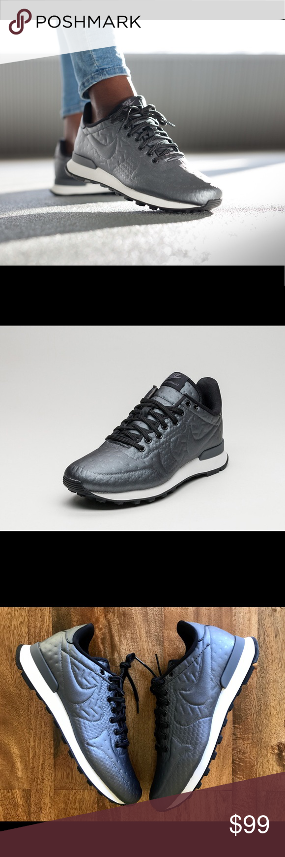 new york 83088 20e3b Nike Women s Internationalist Metallic Sneakers The Nike Internationalist  Women s Shoe has an iconic look inspired by