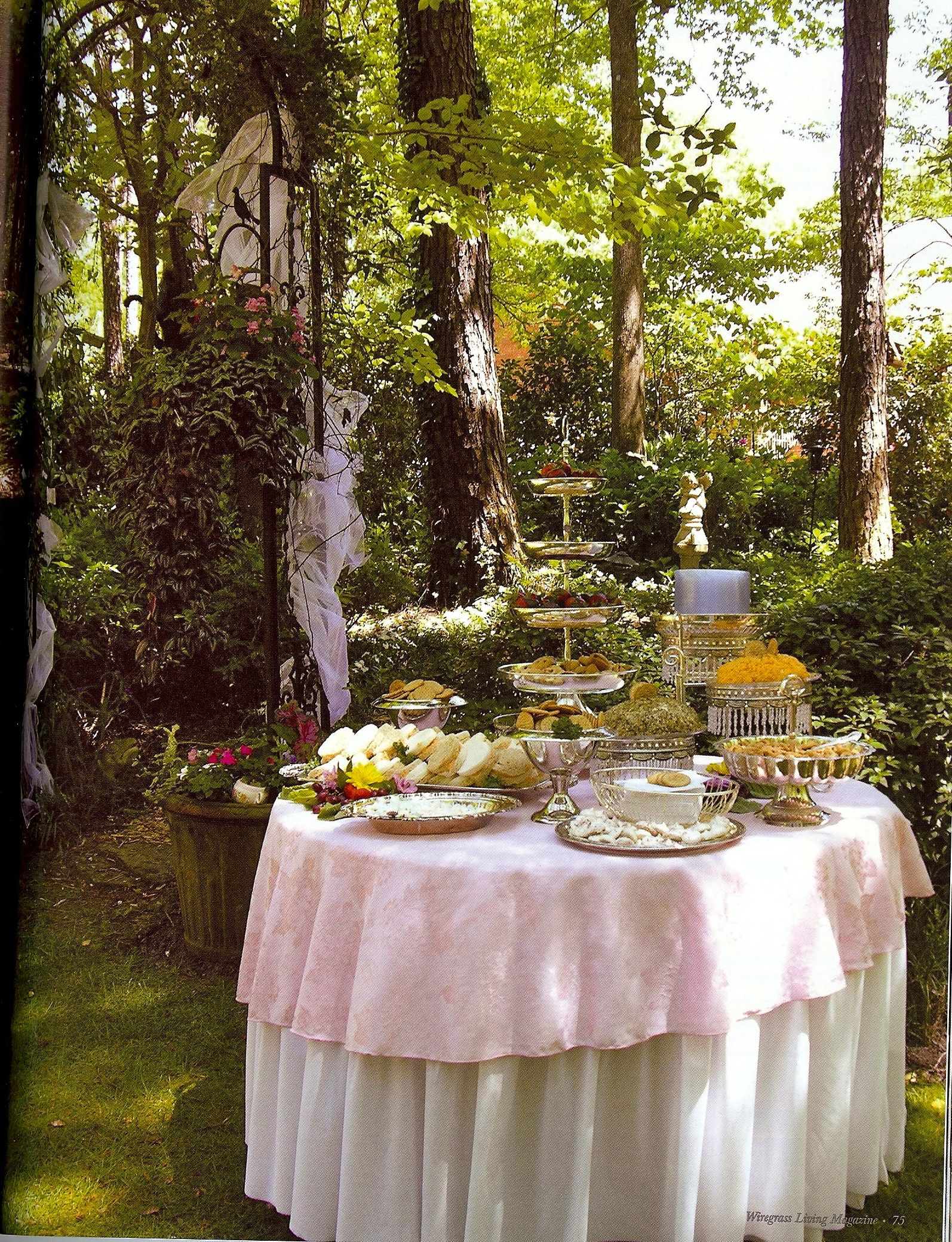 Here's an idea Set up a tea table for your reception, mix