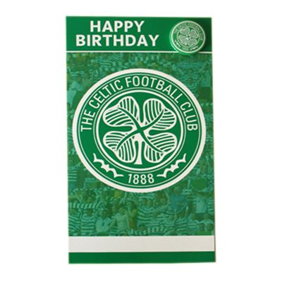 Celtic fc birthday card with badge badges soccer cards and celtic fc birthday card with badge bookmarktalkfo Gallery