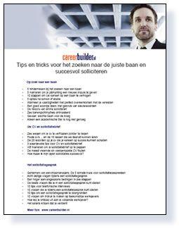 succesvol solliciteren | download het gratis e-book op Careerbuilder door op de foto te dubbelklikken