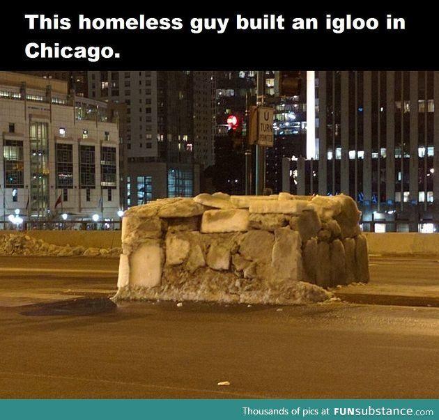 This Is Amazing Funsubstance Com Igloo Building Homeless Man Homeless