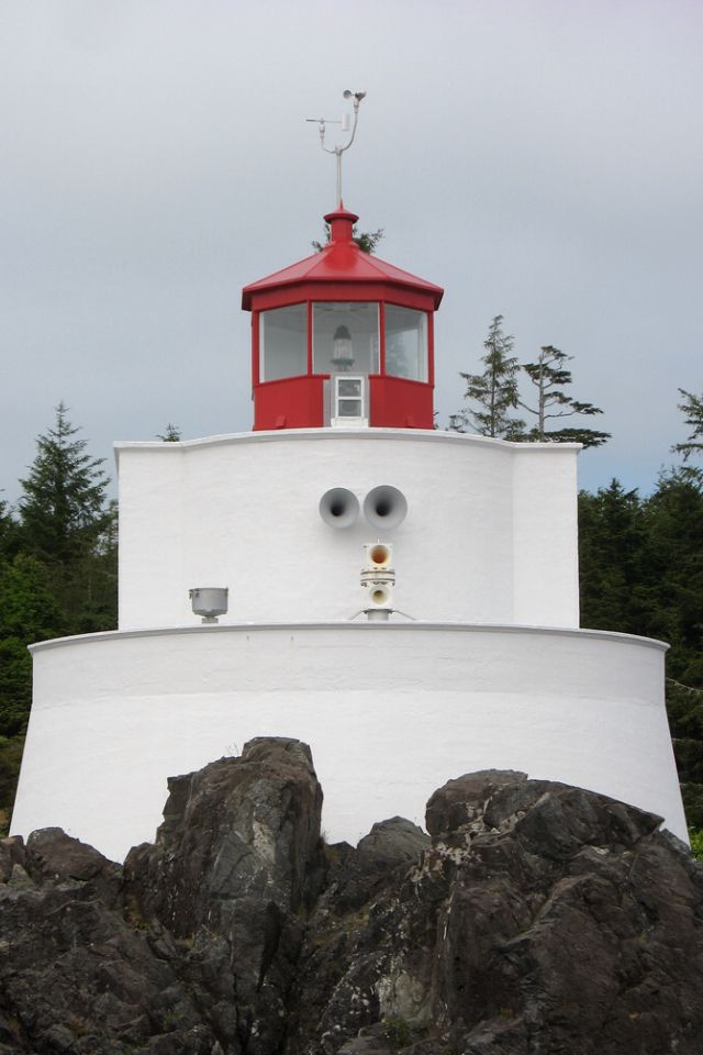 Amphitrite Point Lighthouse in Ucluelet, British Columbia, Vancouver Island. - http://WhatIsTheBestMountainBike.com