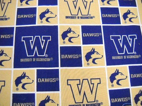 College Team Fabric U Of W Fabric Washington Huskies By Stitchknit 6 00 College Team Washington Huskies Fabric