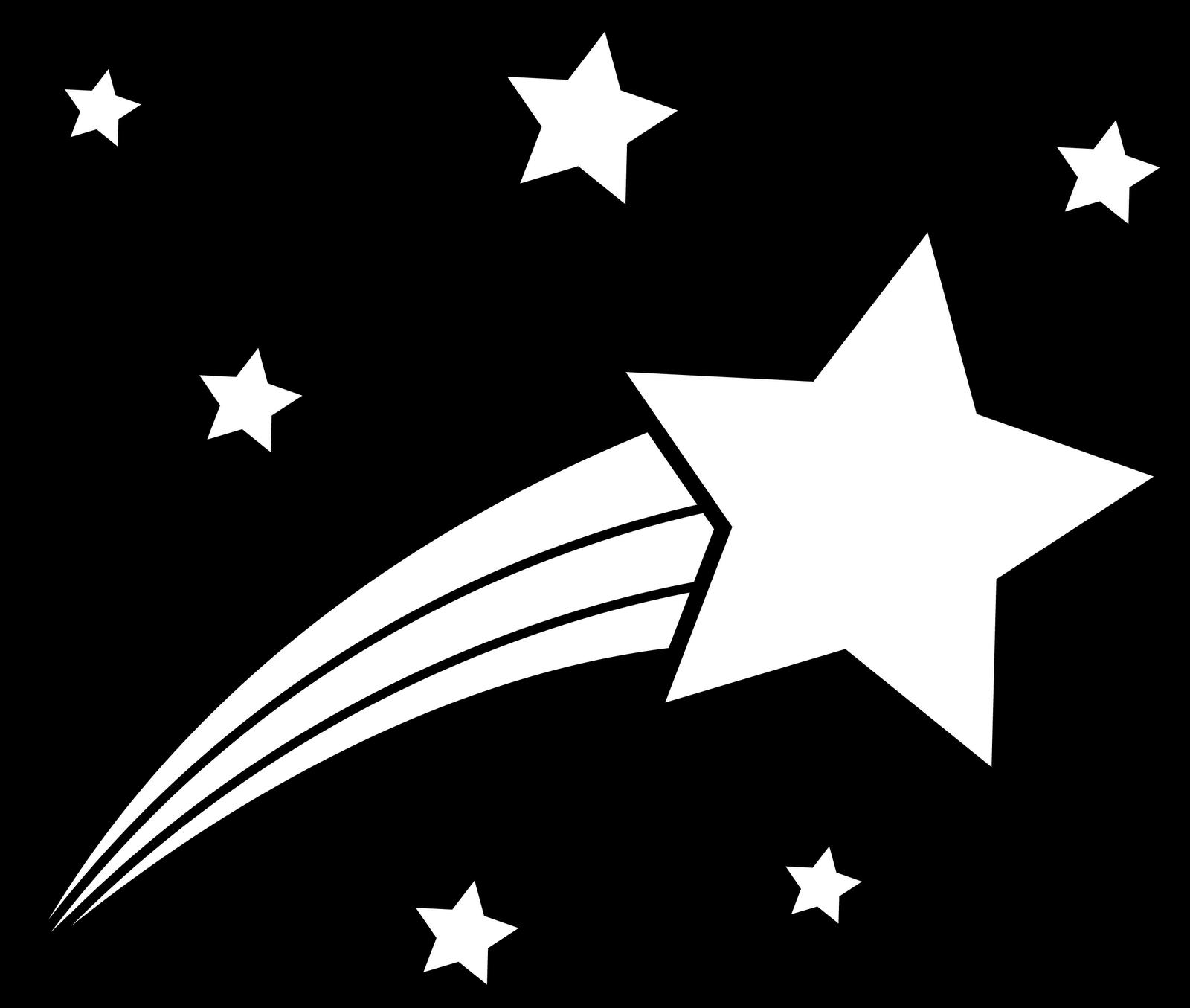 Shooting star clip art black and white clipart panda