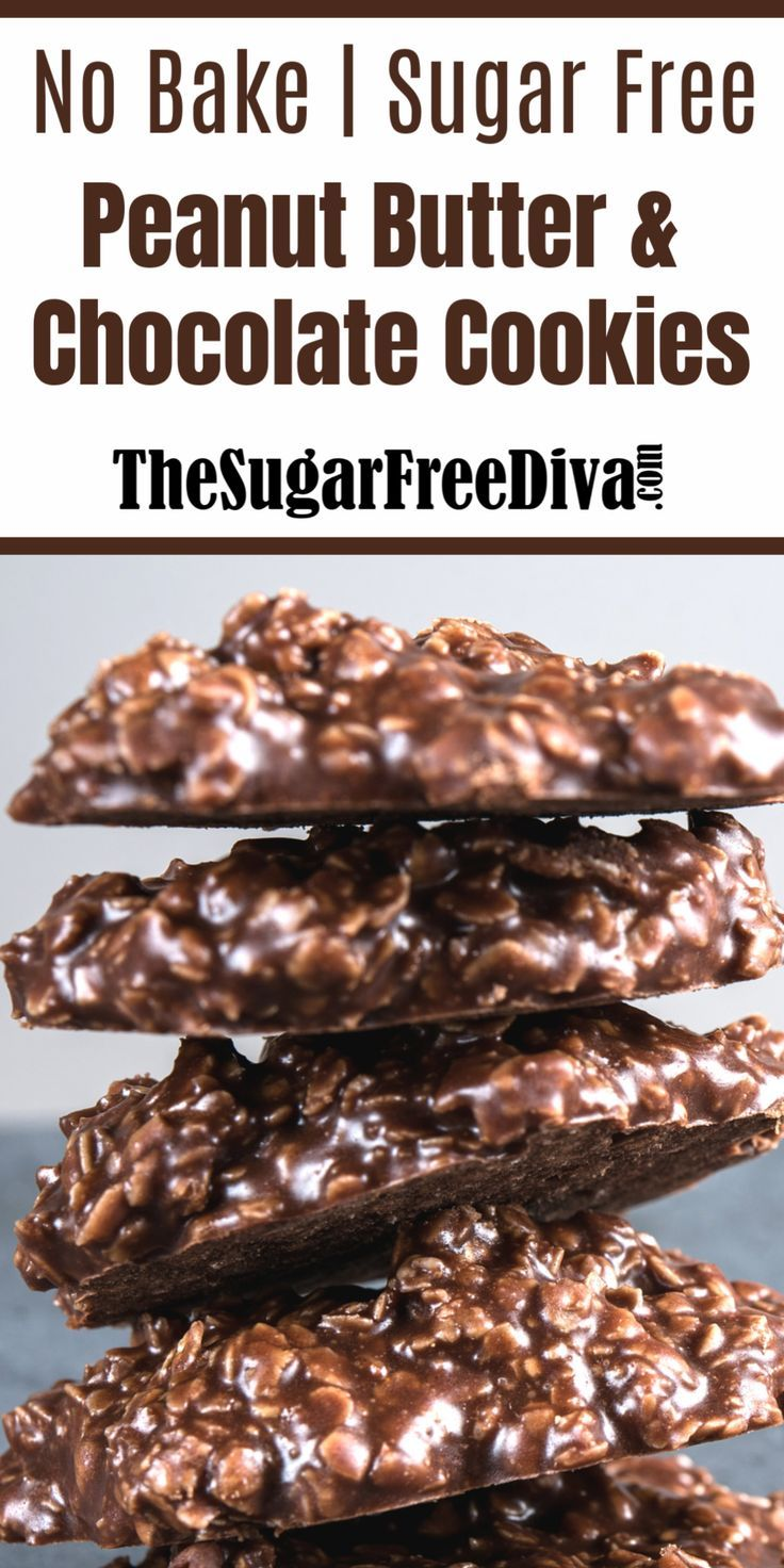 No Bake Sugar Free Chocolate Cookies - THE SUGAR FREE DIVA
