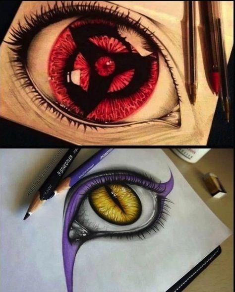 Realistic Drawings Itachi And Orochimaro S Eyes Naruto Drawings Mangekyou Sharingan Naruto Eyes