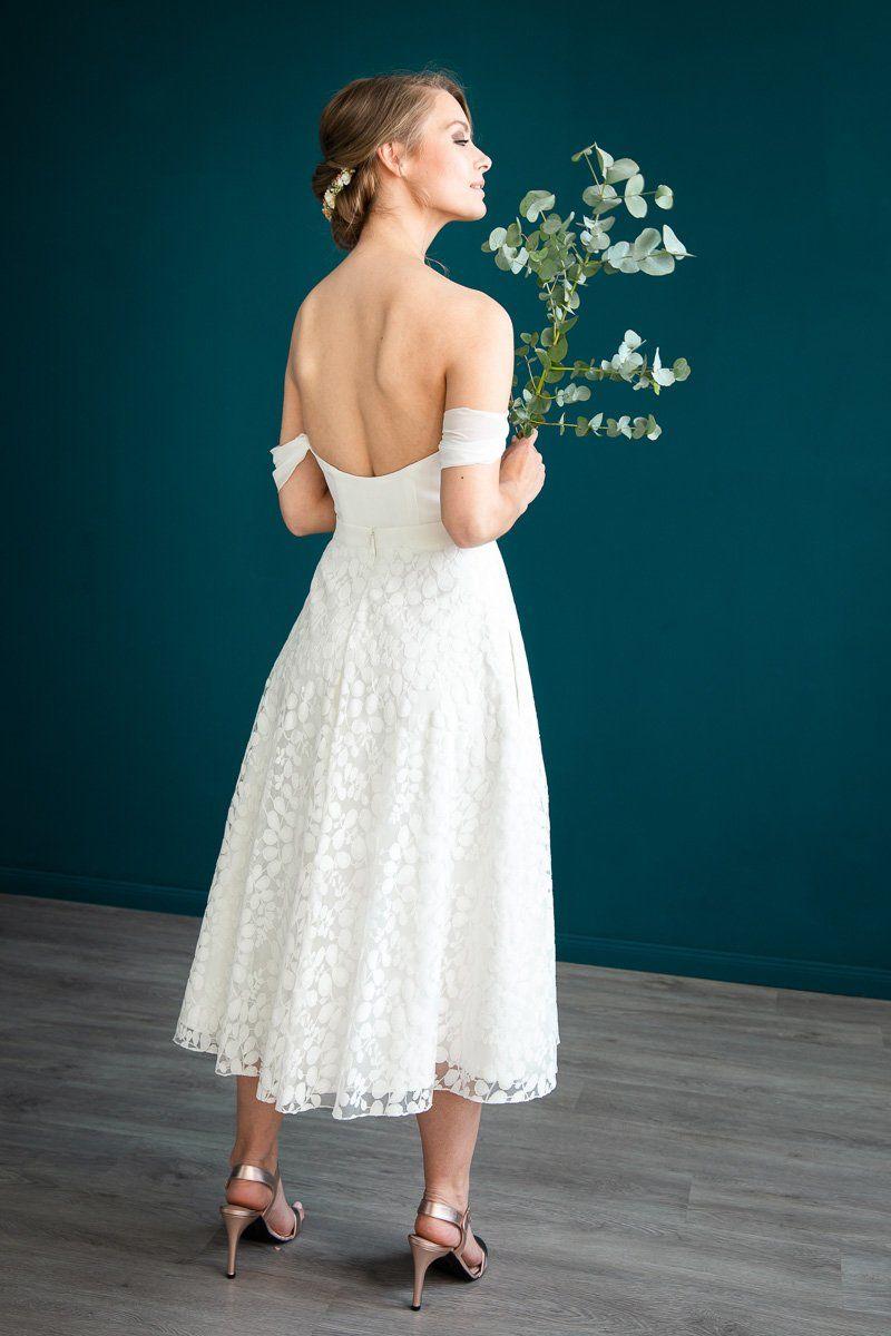 Braut Corsage mit abnehmbaren Armschlaufen - Flora in 10  Braut