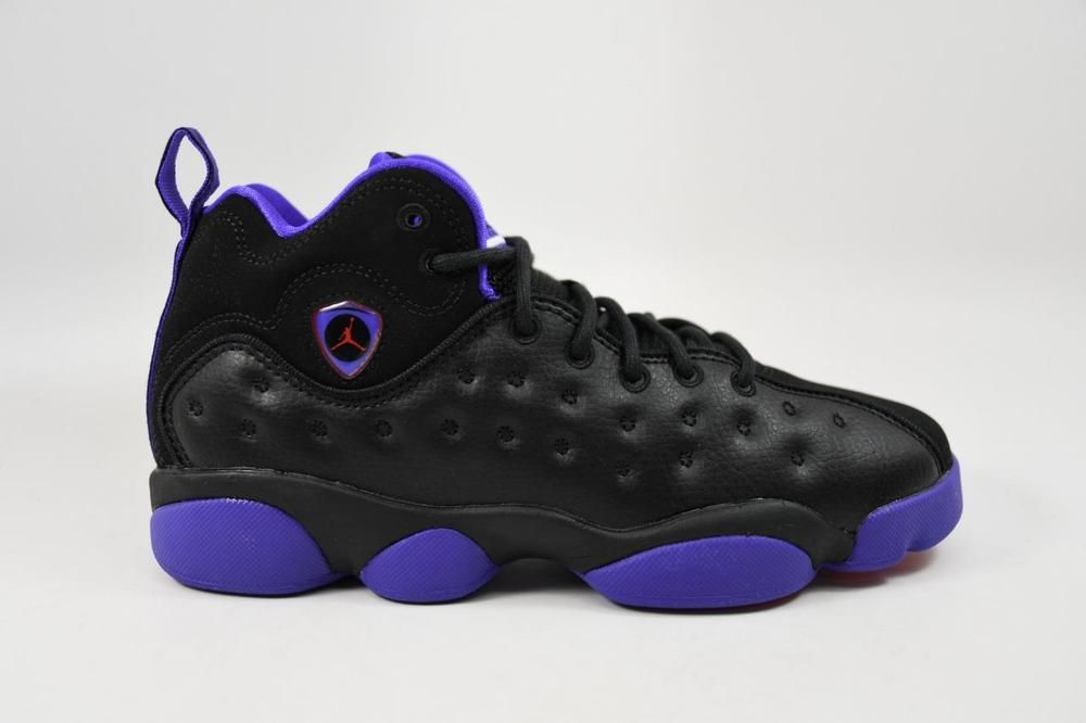ed9bbbba1d6980 eBay  Sponsored Nike Jordan Jumpman Team II GG Black Purple Red 820276 017  Grade School Size 5