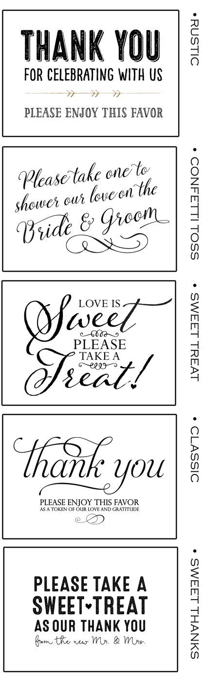 Free Printable Favor Signs at wwwmavora - Matches many - wedding door hanger template