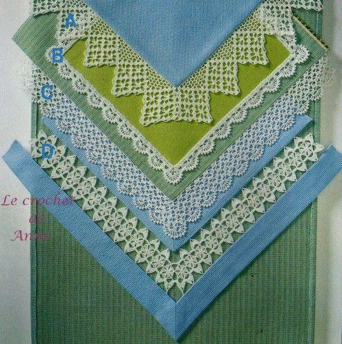 Bordure avec des angles 11 rajut renda pinterest - Bordure de finition au crochet ...