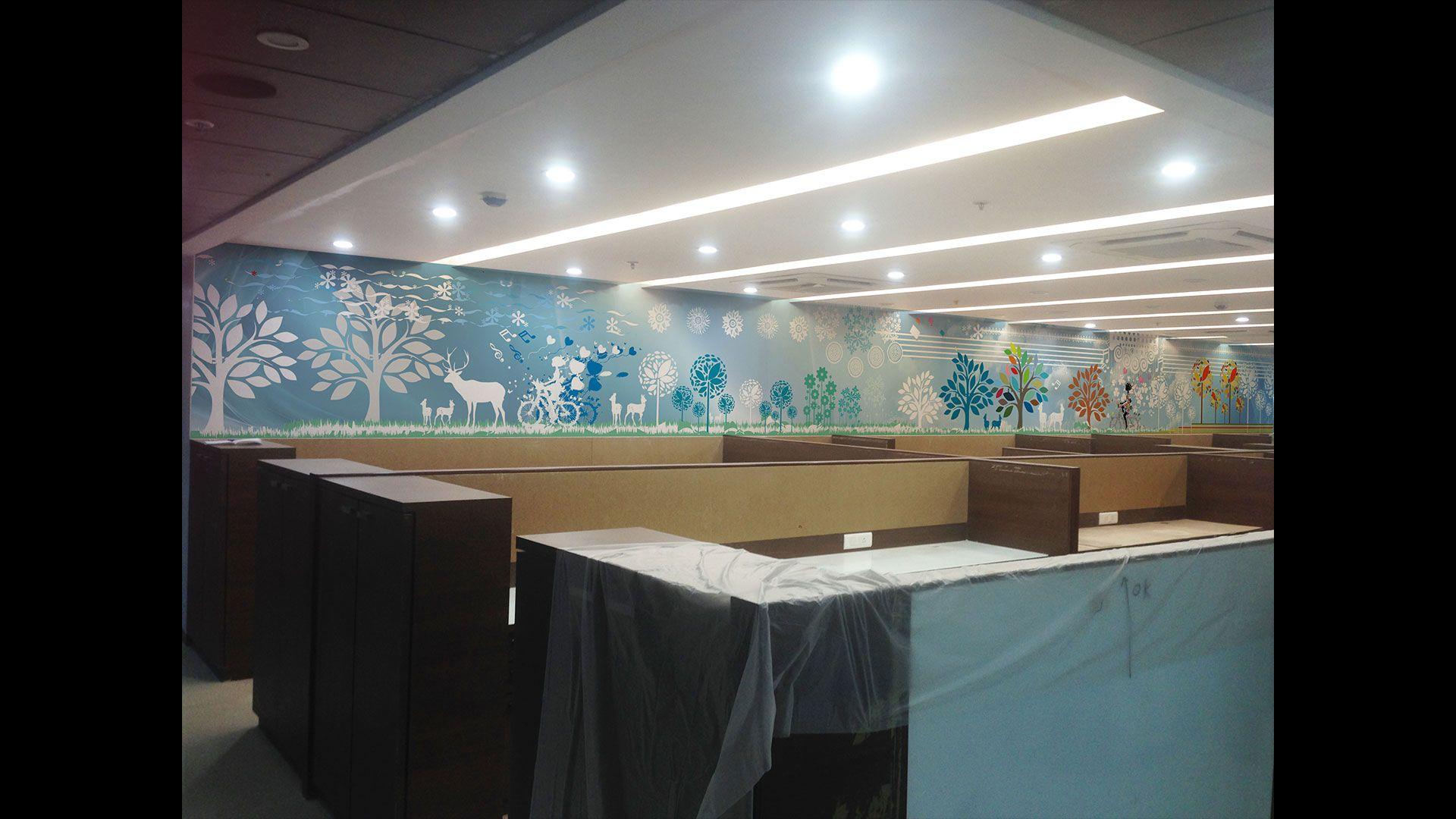 Environmental Branding Wall Branding Interior Decor For Homes