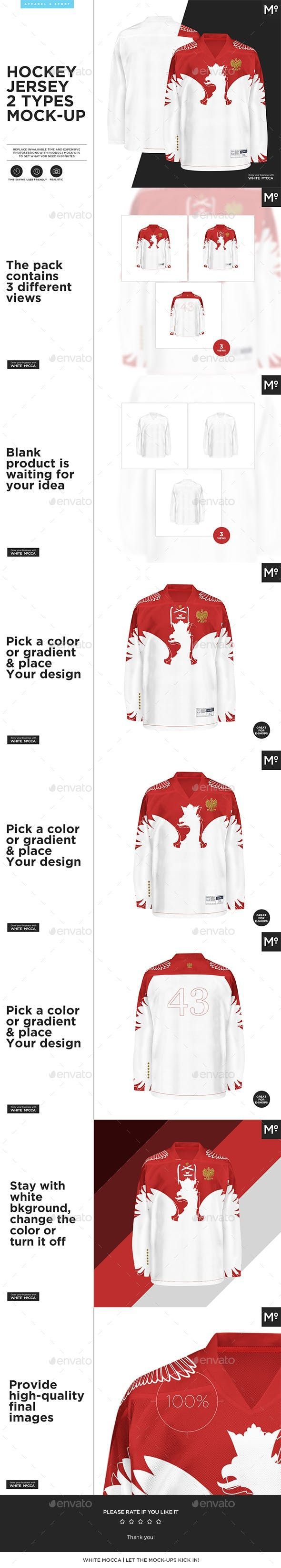 Download Hockey Jersey 2 Types Mock Up Clothing Mockup Mockup Hockey Jersey