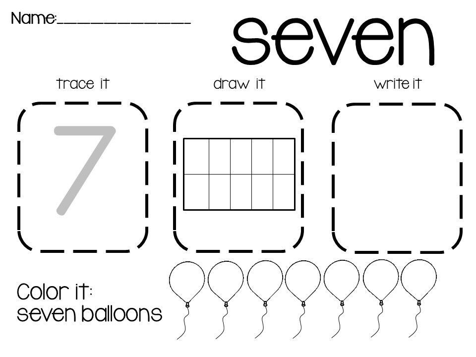 Ten Frame Number Worksheets! Black and White AND color